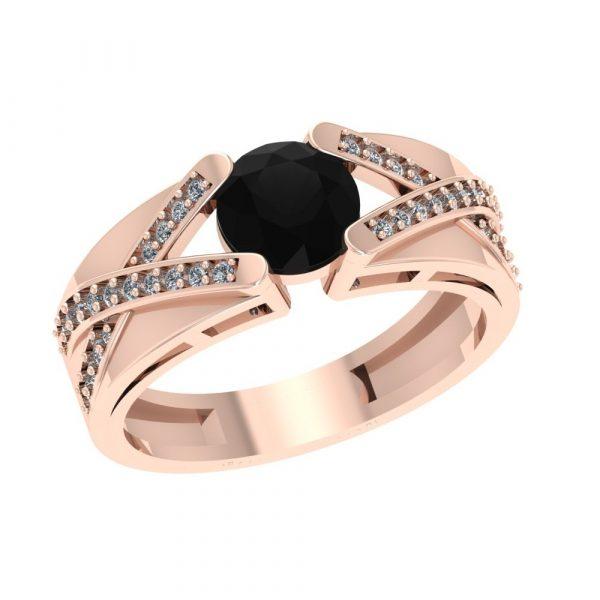 black diamond infinity ring