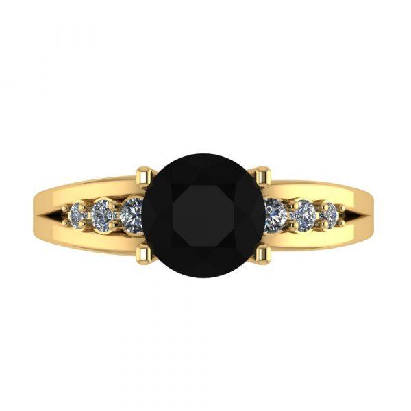 black diamond solitaire accent ring