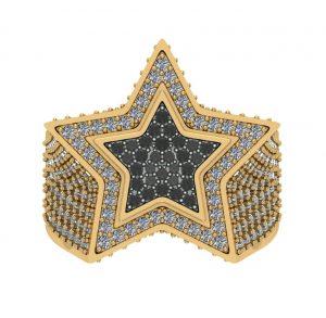 star design hip hop diamond ring