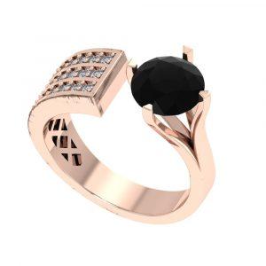 big black diamond ring