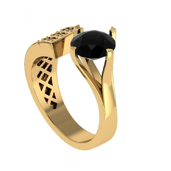 big black diamond ring