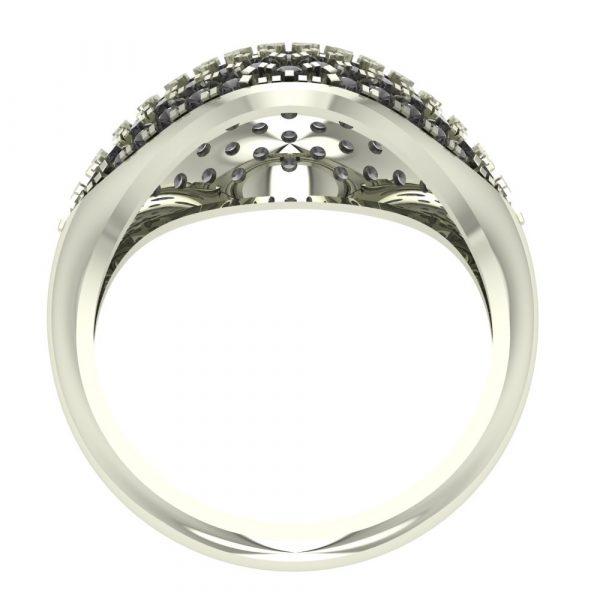 fancy black diamond ring