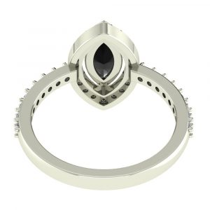 marquise cut halo ring