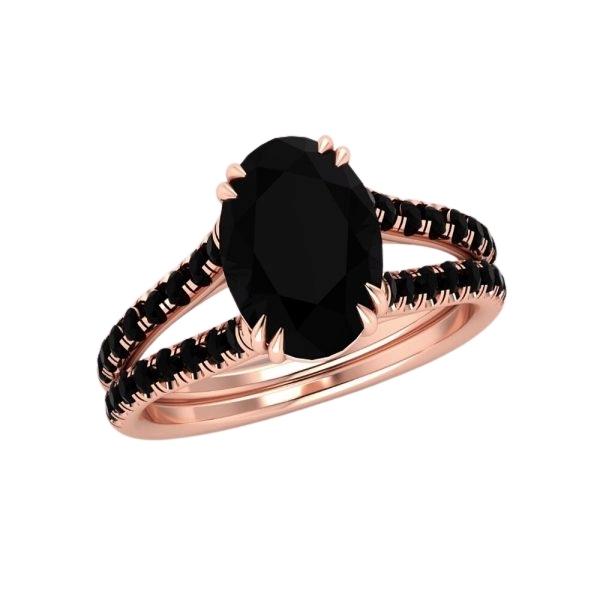 2.50ct oval split shank engagement ring