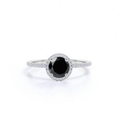 1.50ct white gold halo ring