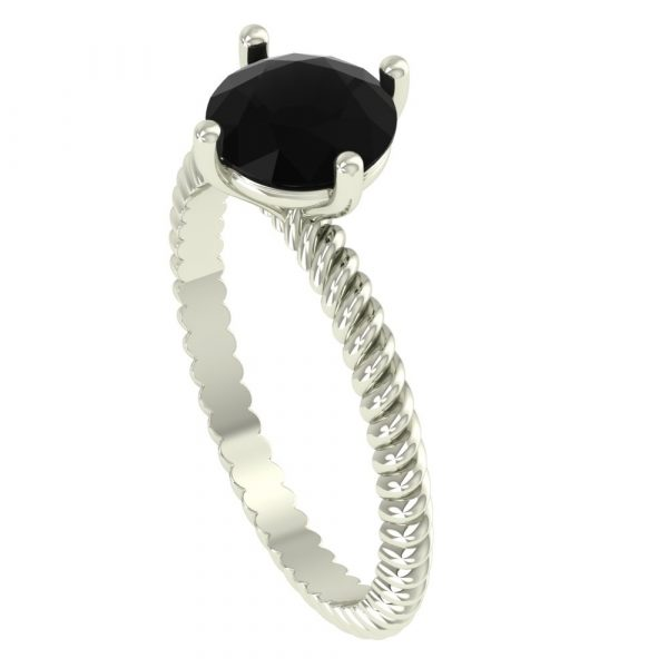 Rope Engagement Ring