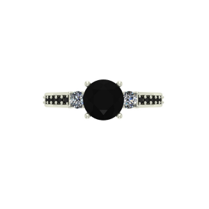 three stone white gold engagement ring