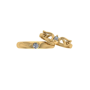couple crown promise rings
