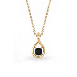 solitair black diamond pendant