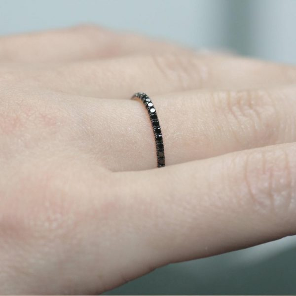 18K rose gold eternity ring