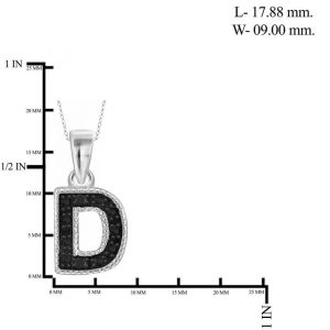 black diamond D initial pendant
