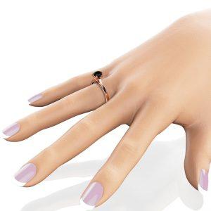 balck diamond engagement ring