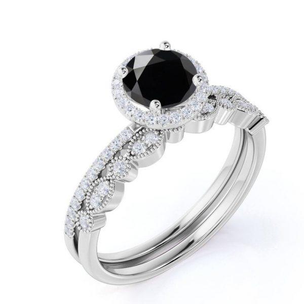 Black Diamond Bridal Set