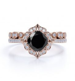 Antique Black Diamond Engagement Ring