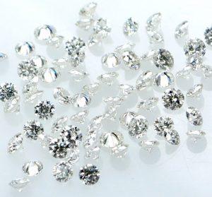 1.80 to 2.70 mm colorless diamond
