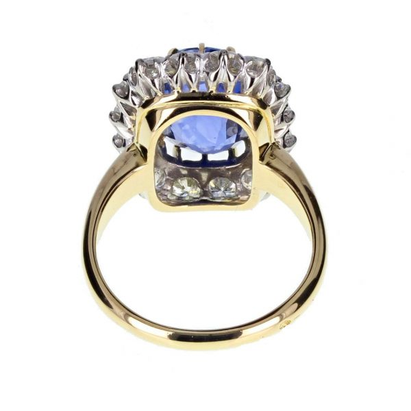 sapphire yellow gold ring