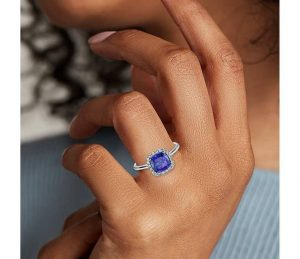 Cushion Tanzanite Ring