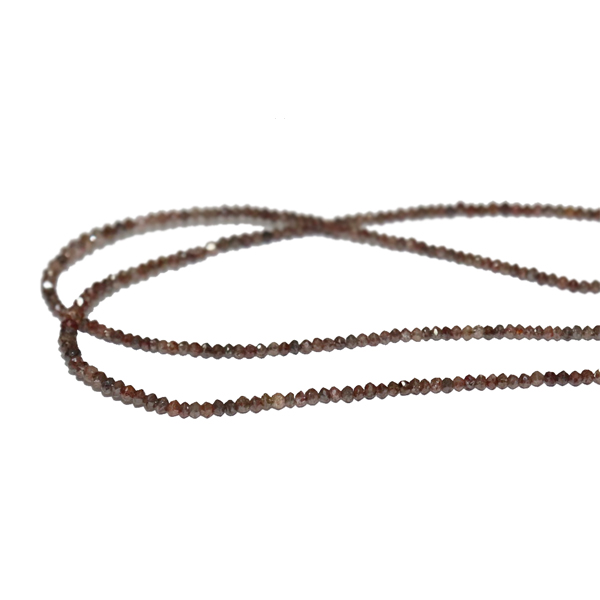Brown Diamond Faceted Beads