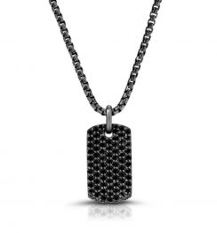 black diamond necklace pendant