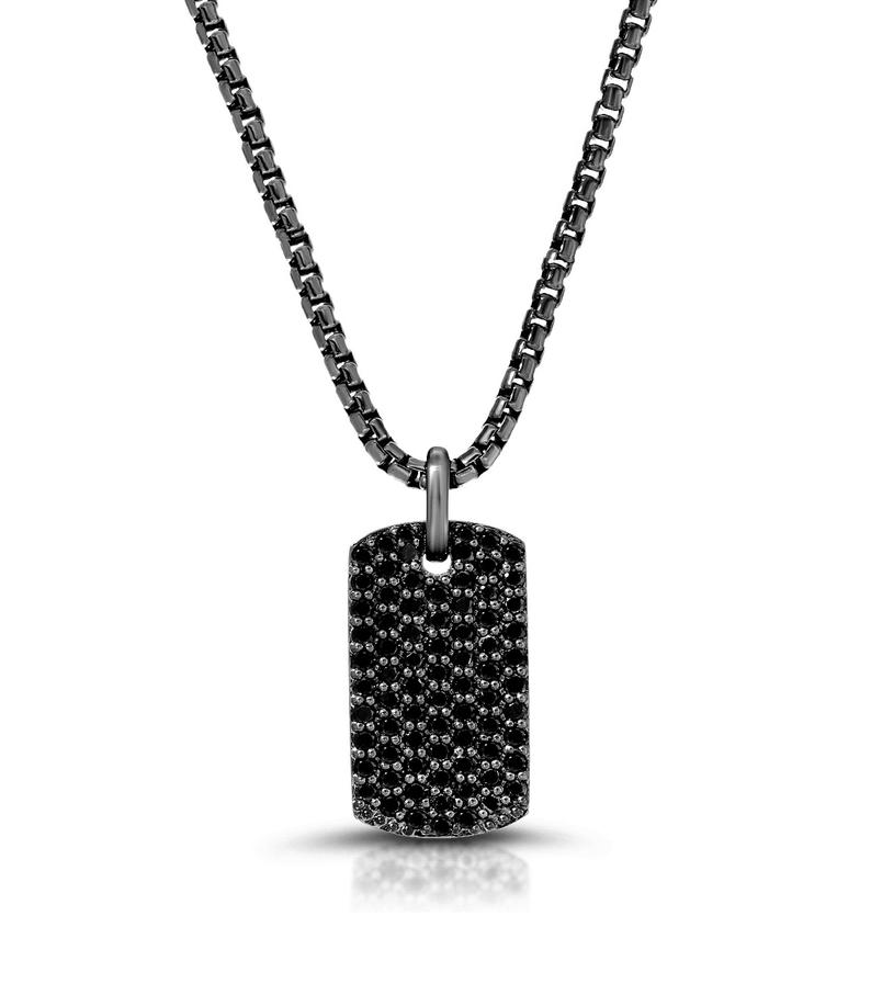 black diamond necklace pendant