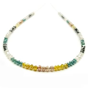 multicolor faceted diamond beads necklace