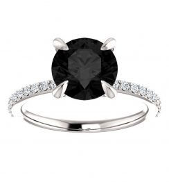 Black Onyx Engagement Ring