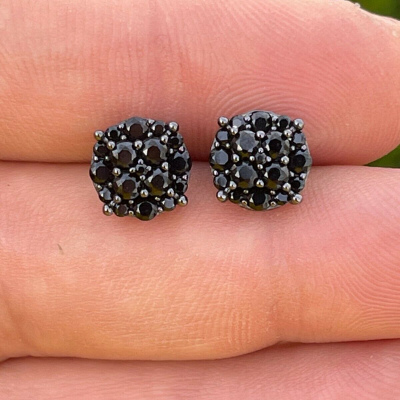 black diamond men's earring