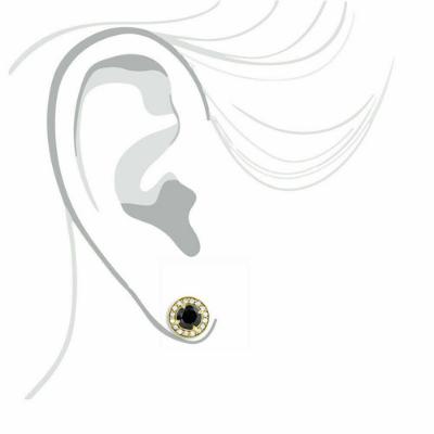 halo stud earring