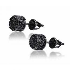 black diamond stud earring
