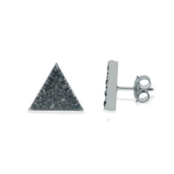 mens black diamond earring