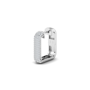 mens white diamond earring