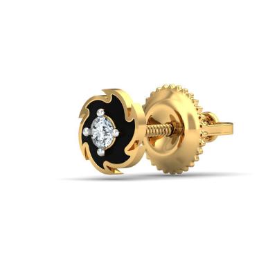 white diamond stud earring