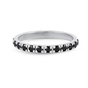 eternity black diamond ring