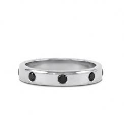 black diamond wedding ring