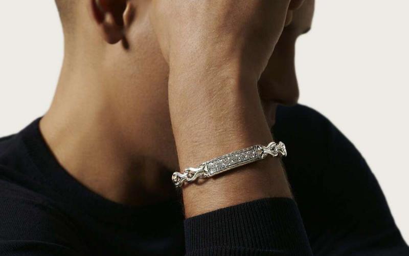 men wear diamond bracelet