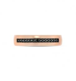mens black daimond ring