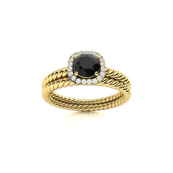 halo bridal set ring