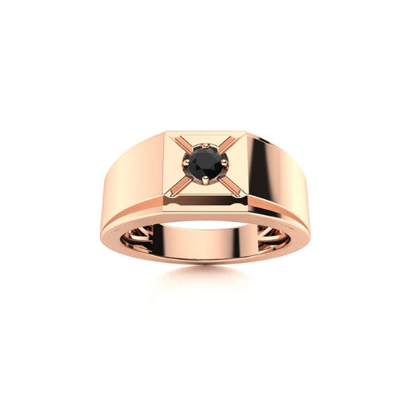 solitaire mens ring