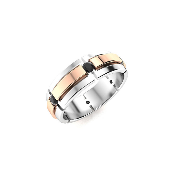 two tone mens ring