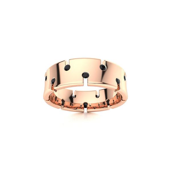mens black diamond ring