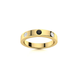 black & white diamond mens ring