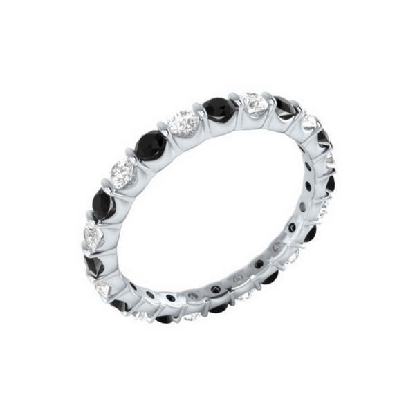 black & white diamond eternity Ring