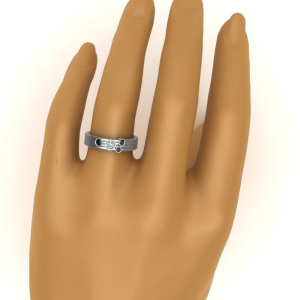 bezel set wedding ring