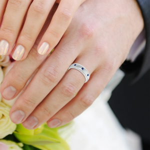 sapphire mens wedding ring