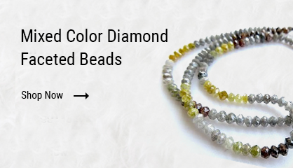 Mixed Color diamond Faceted Beads
