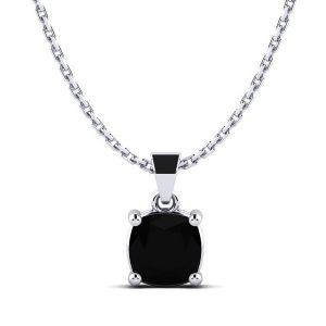 Black Diamond Solitaire Certified Pendant