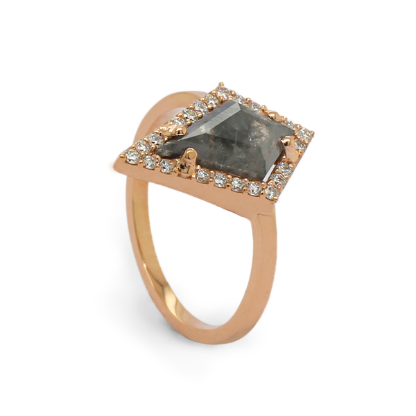 salt and pepper diamond ring